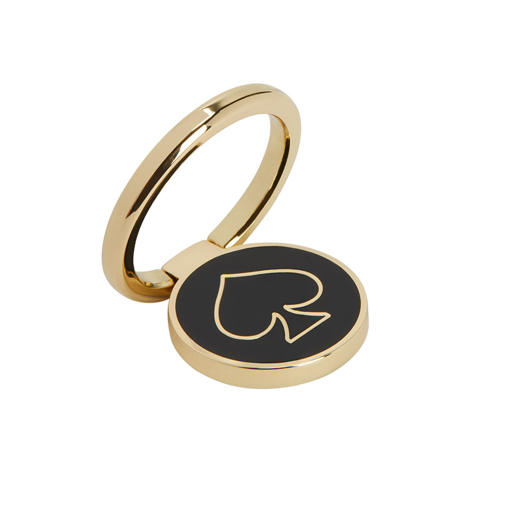 Wholesale cell phone accessory Kate Spade - Stability Ring - Gold and Black Enamel