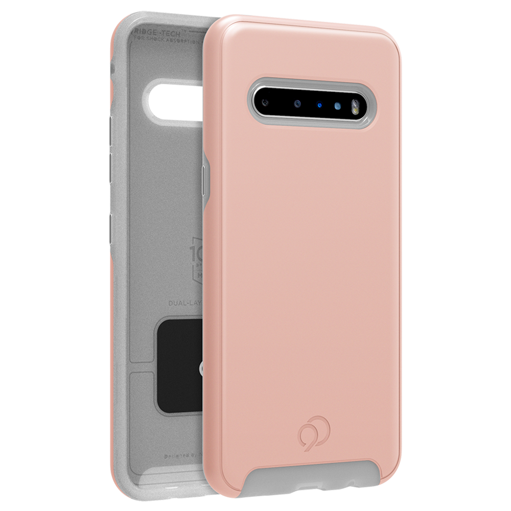 Wholesale cell phone accessory Nimbus9 - Cirrus 2 Case for LG V60 ThinQ - Rose Clear