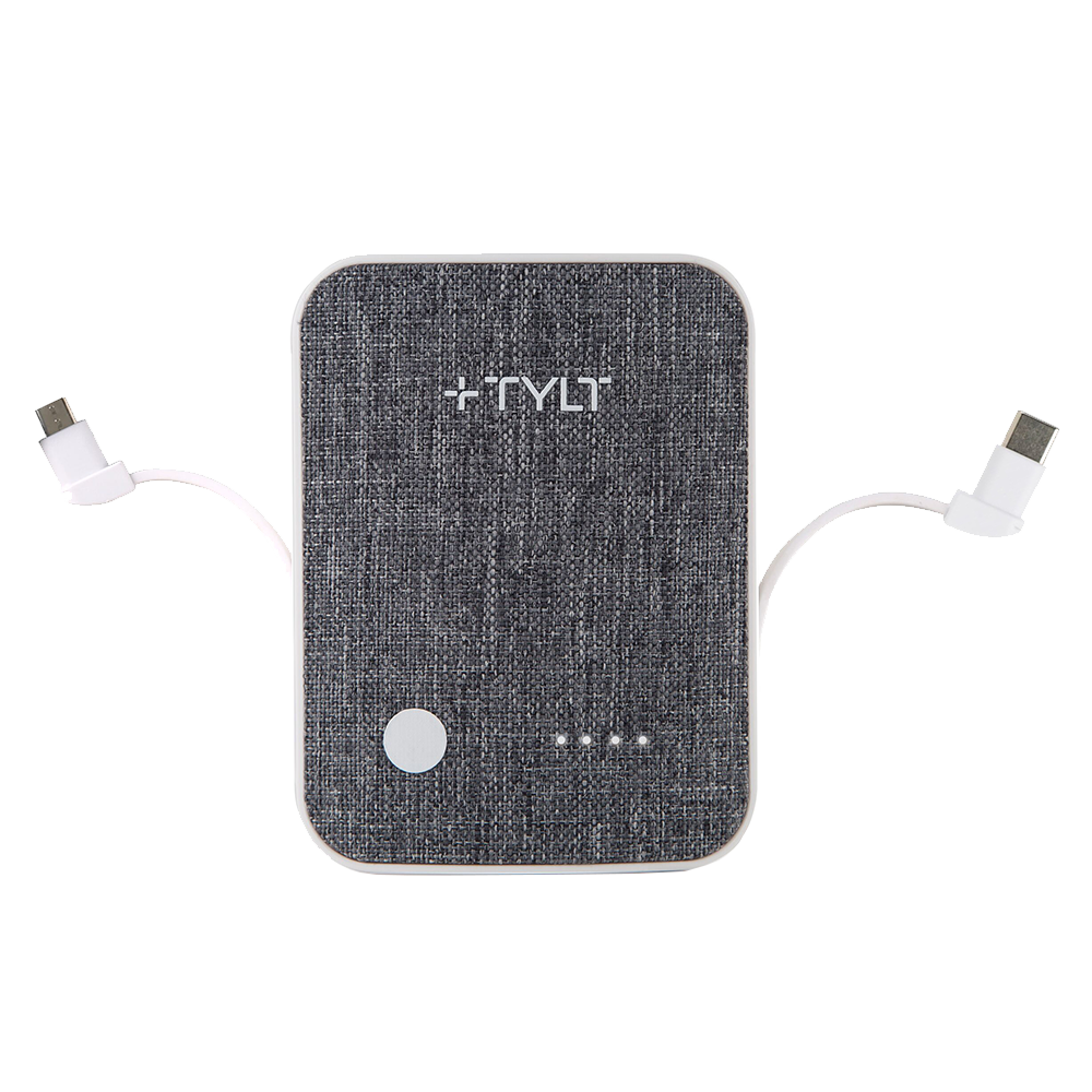 Wholesale cell phone accessory TYLT - Xcele 3 Wall Charger and Power Bank 6,700 mAh - White