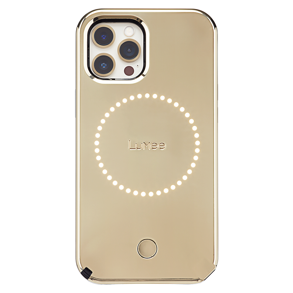 LuMee - Halo Case for Apple iPhone 12 Pro Max - Gold Mirror