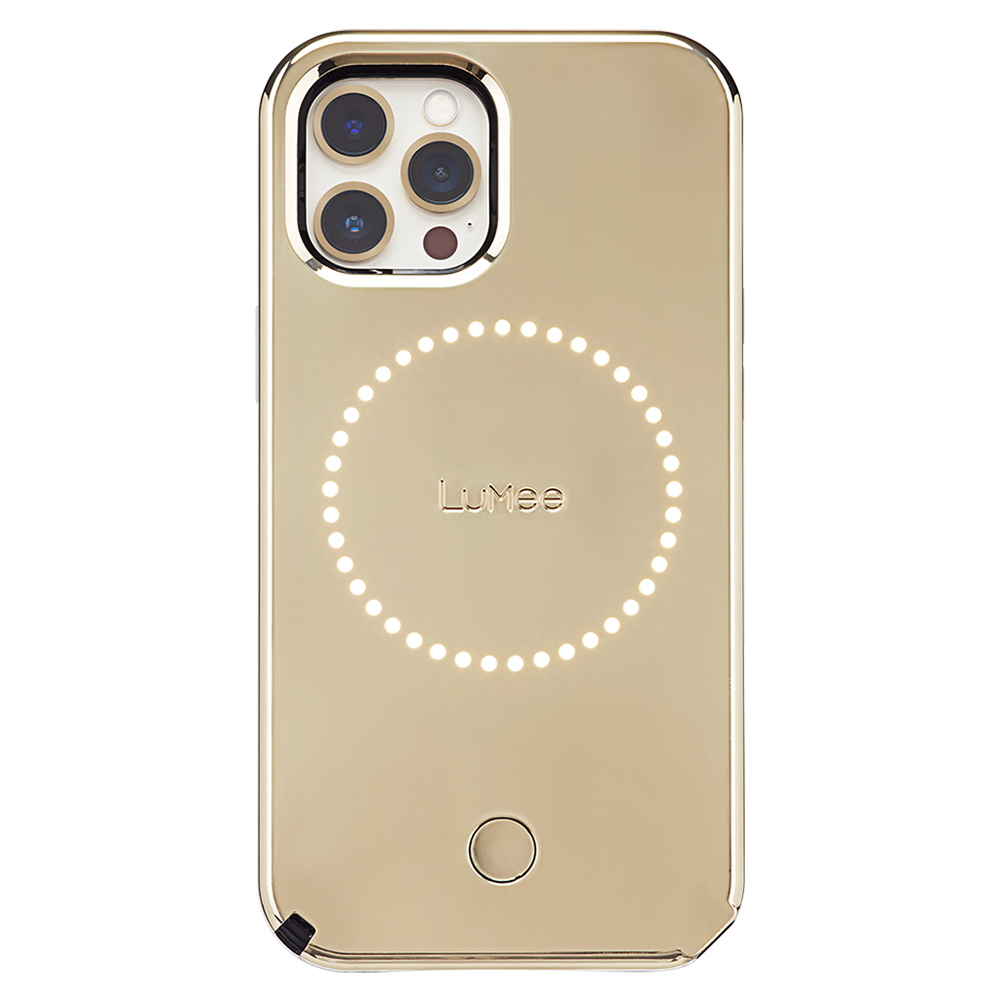 LuMee - Halo Case for Apple iPhone 12  /  12 Pro - Gold Mirror