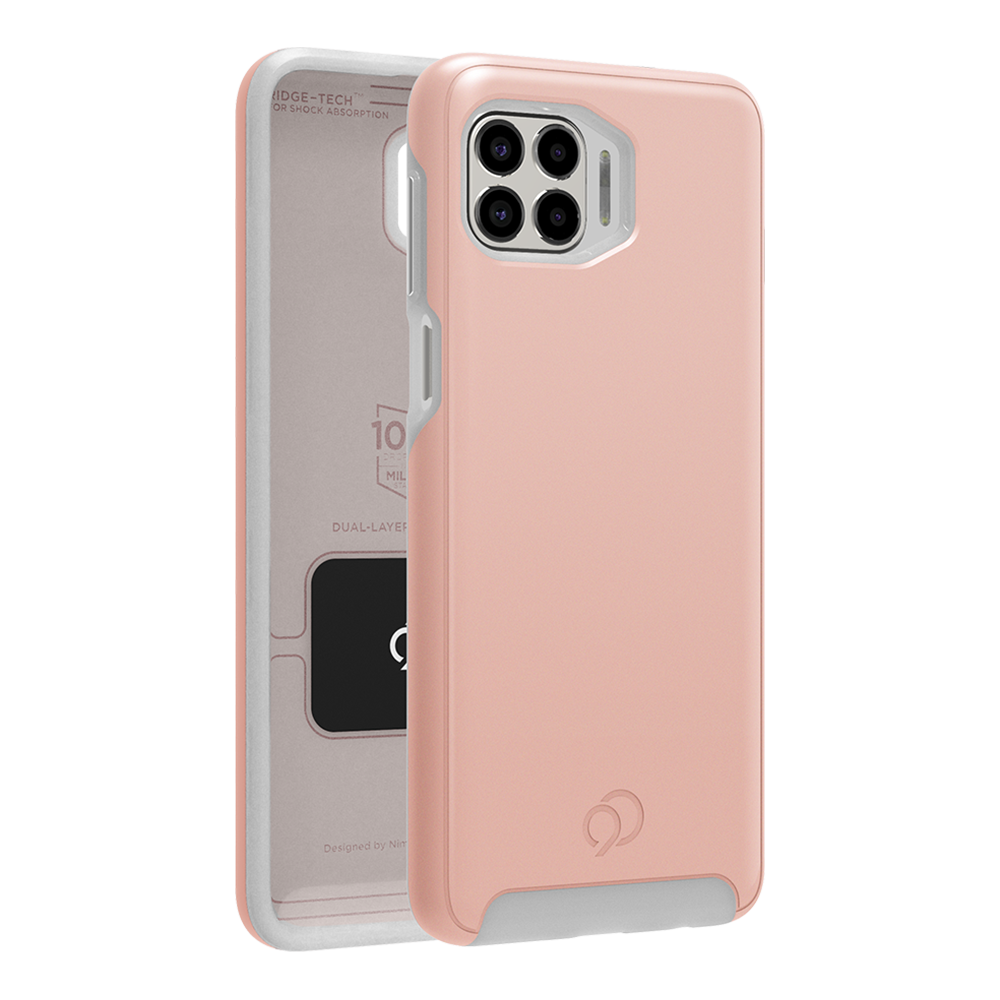 Wholesale cell phone accessory Nimbus9 - Cirrus 2 Case for Motorola One 5G - Rose Gold