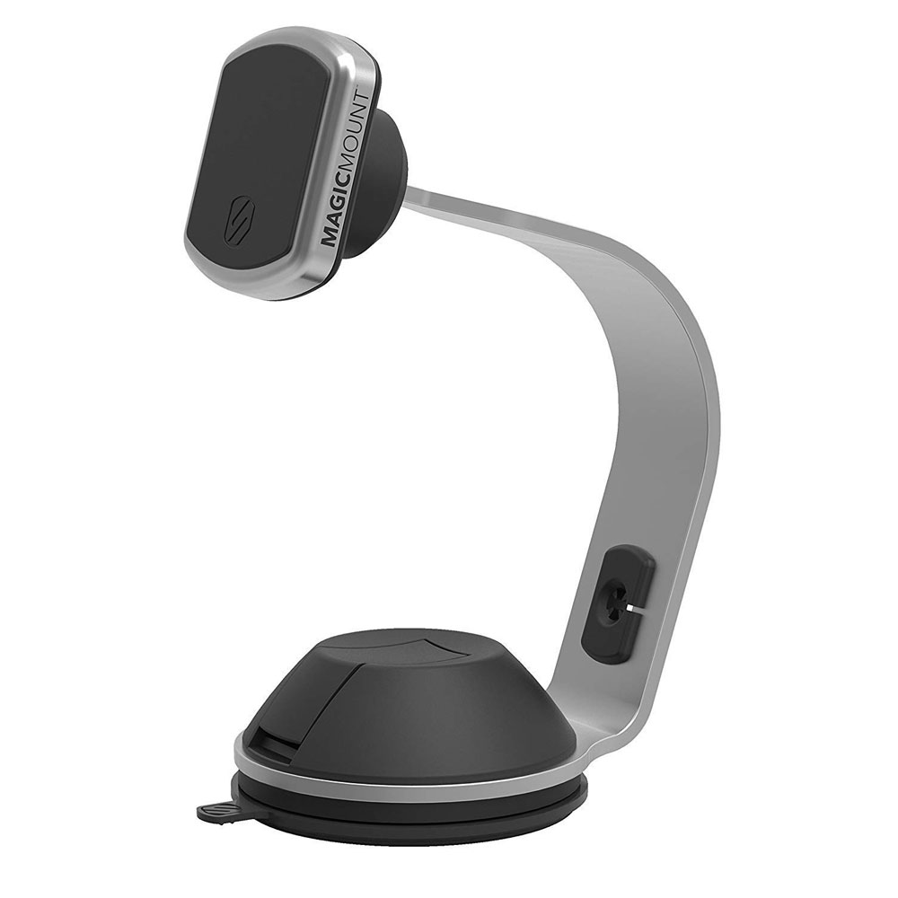 Wholesale cell phone accessory Scosche - MagicMount Pro Office Desk Mount - Black and Silver