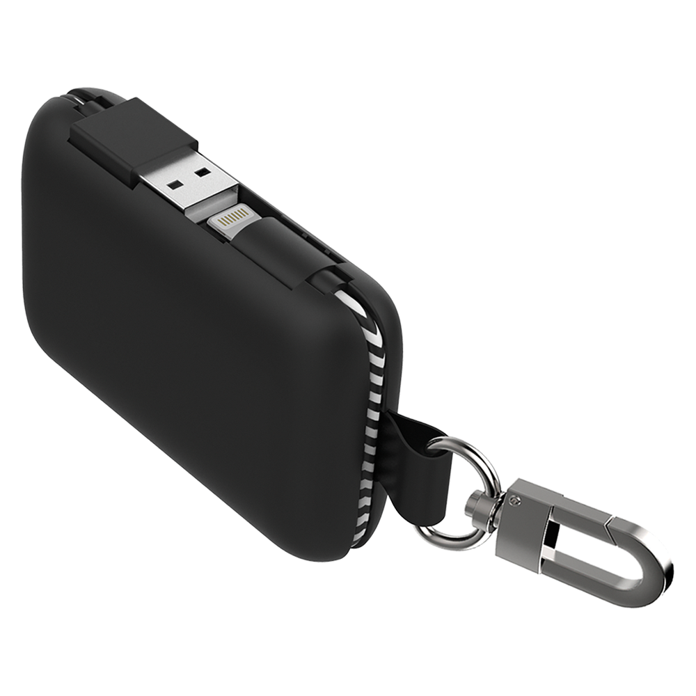 Qmadix - Power Bank 5,000 mAh for Apple Lightning Devices - Black