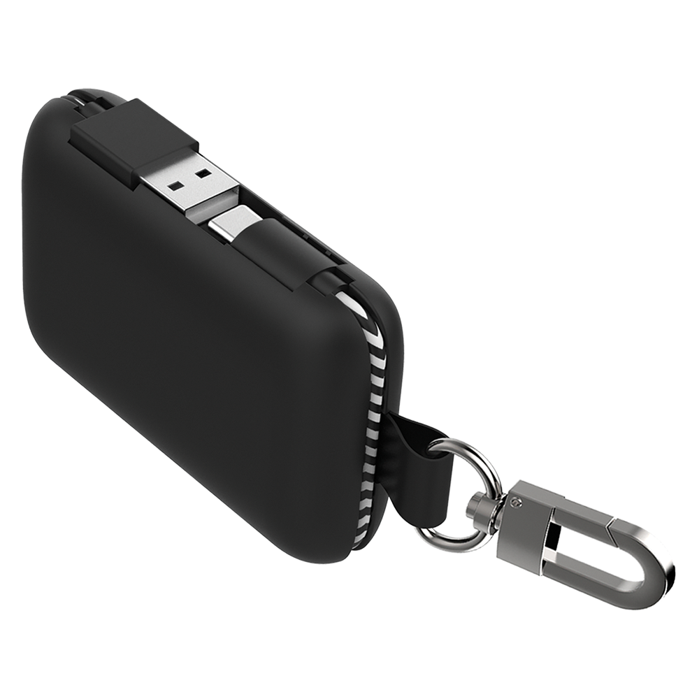 Qmadix - Power Bank 5,000 mAh for Type C Devices - Black
