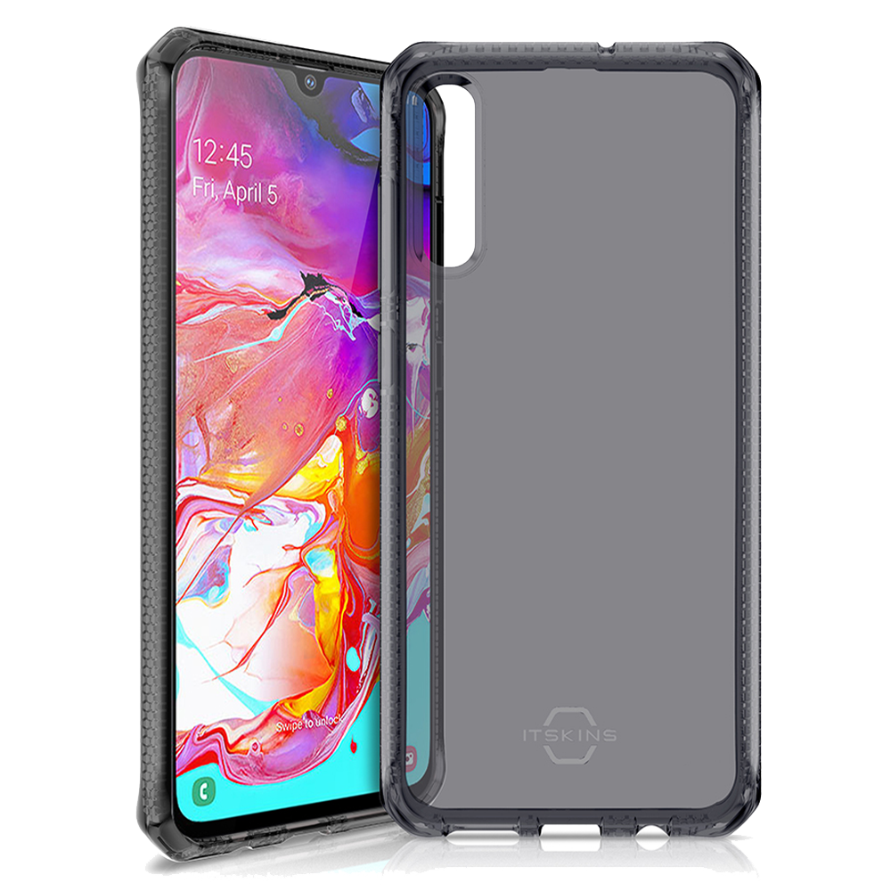 ITSKINS - Spectrum Clear Case for Samsung Galaxy A70 - Black