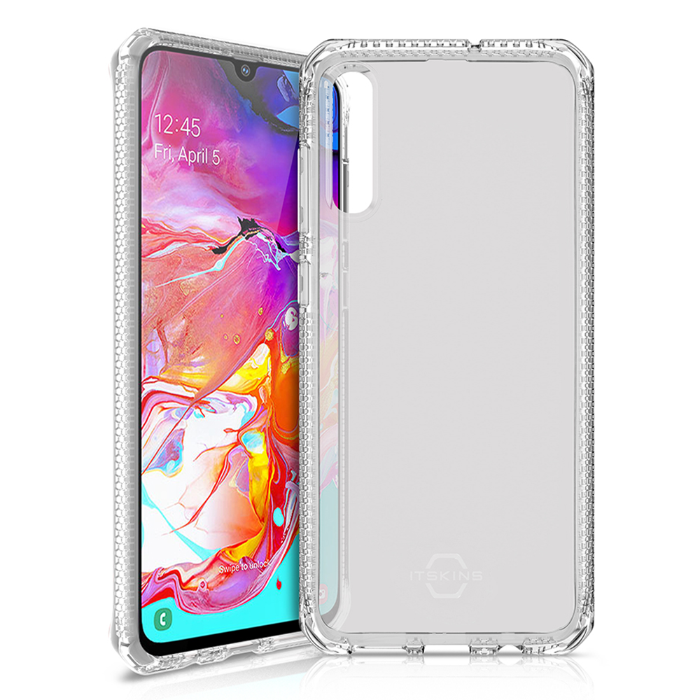 ITSKINS - Spectrum Clear Case for Samsung Galaxy A70 - Transparent