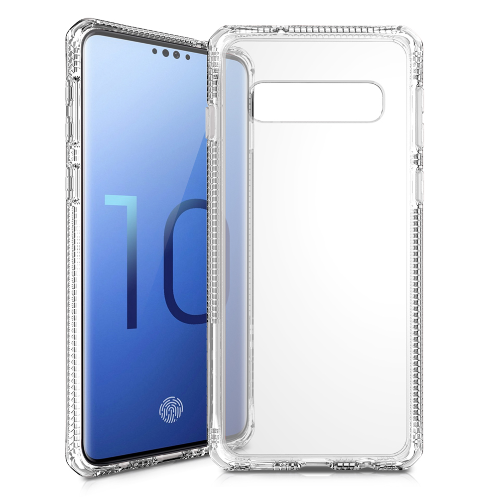 Wholesale cell phone accessory ITSKINS - Hybrid Clear Case for Samsung Galaxy S10 - Transparent