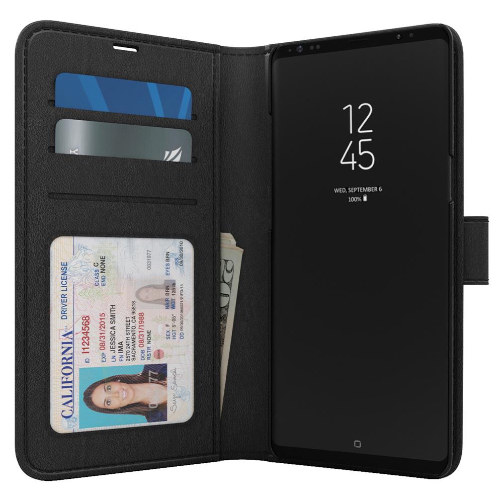 Skech - Polo Book Case for Samsung Galaxy Note 10 - Black