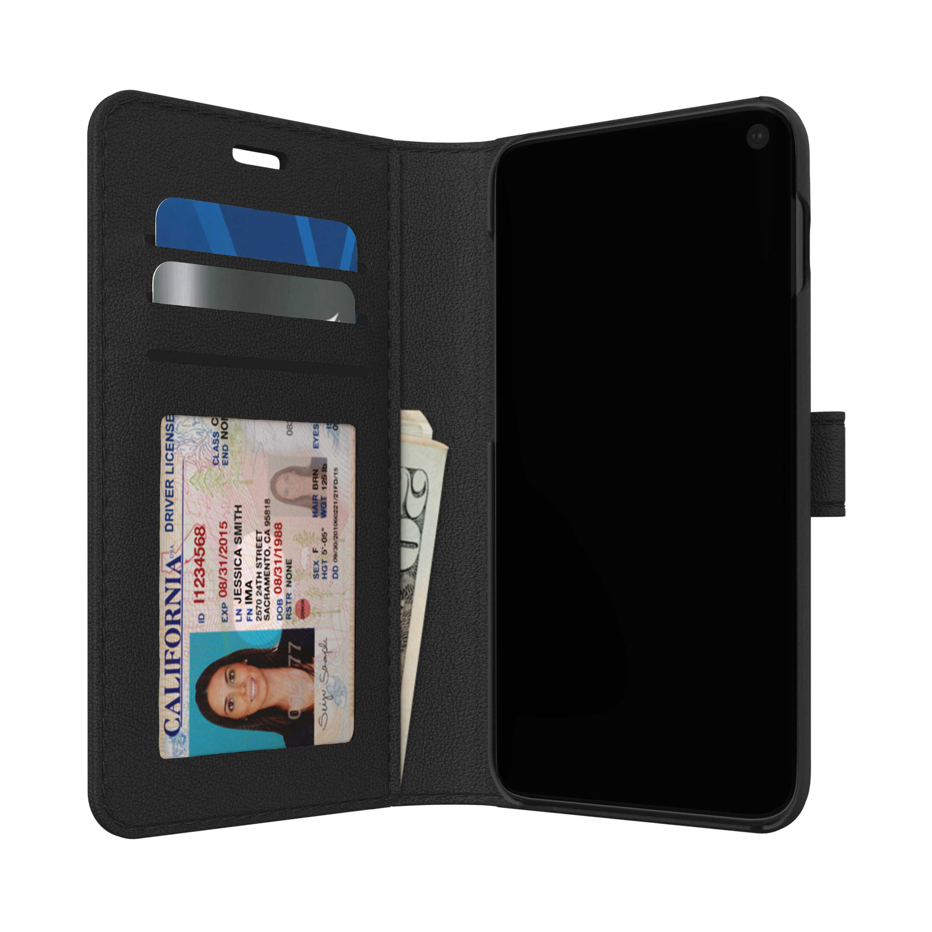 Wholesale cell phone accessory Skech - Polo Book Case for Samsung Galaxy S10 - Black