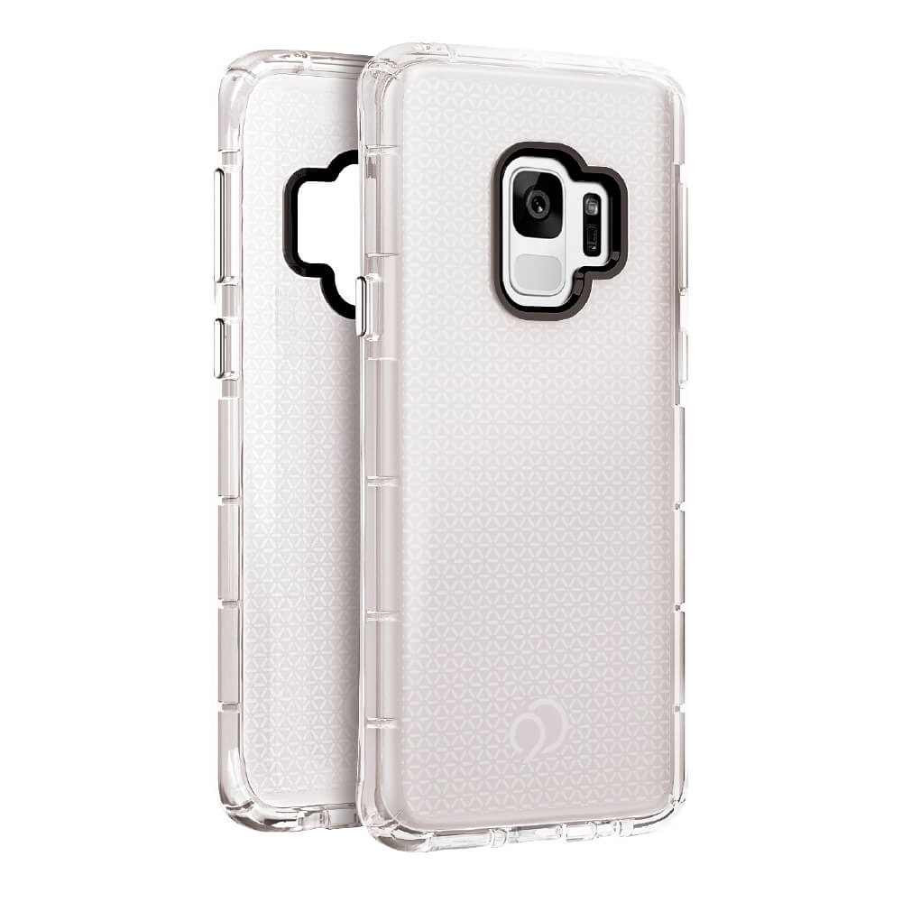 Wholesale cell phone accessory Nimbus9 - Phantom 2 Case for Samsung Galaxy S9 - Clear and Red