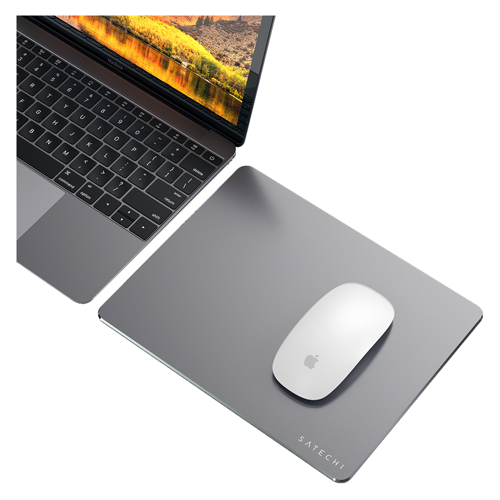 Wholesale cell phone accessory Satechi - Aluminum Mouse Pad - Space Gray