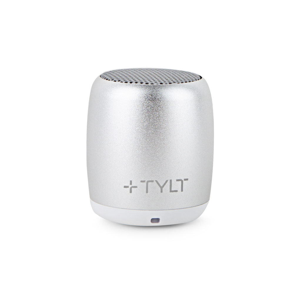 Wholesale cell phone accessory TYLT - Mini Boom Bluetooth Speaker - Silver