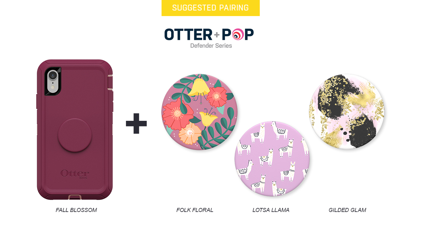 PopTops to pair with Otter + Pop Defender Fall Blossom Case
