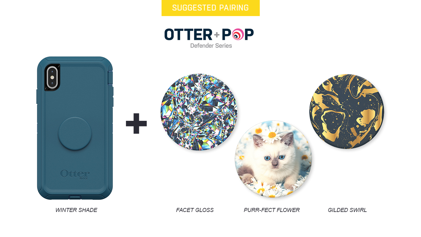 PopTops to pair with Otter + Pop Defender Winter Shade Case
