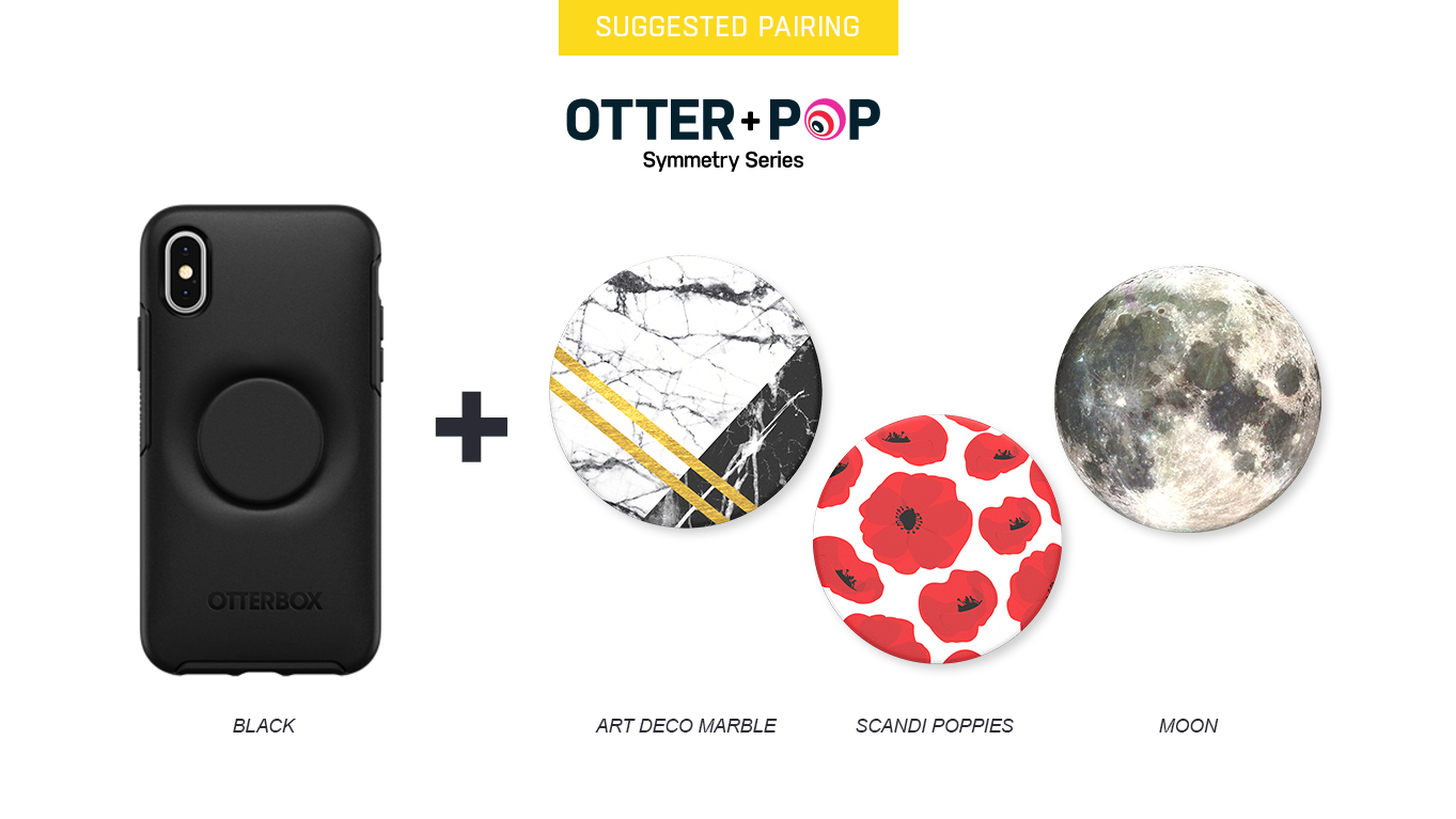 PopTops to pair with Otter + Pop Symmetry Black Case