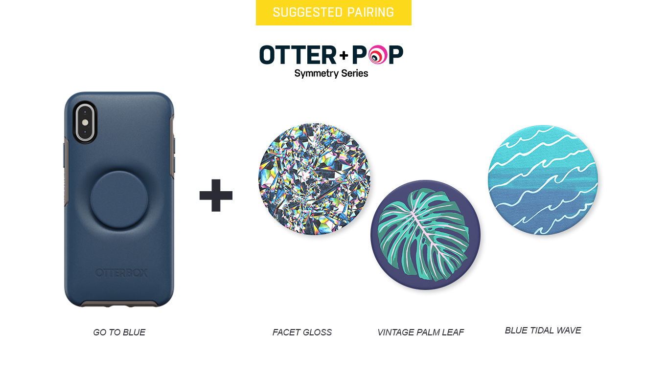 PopTops to pair with Otter + Pop Symmetry On The Blue Case