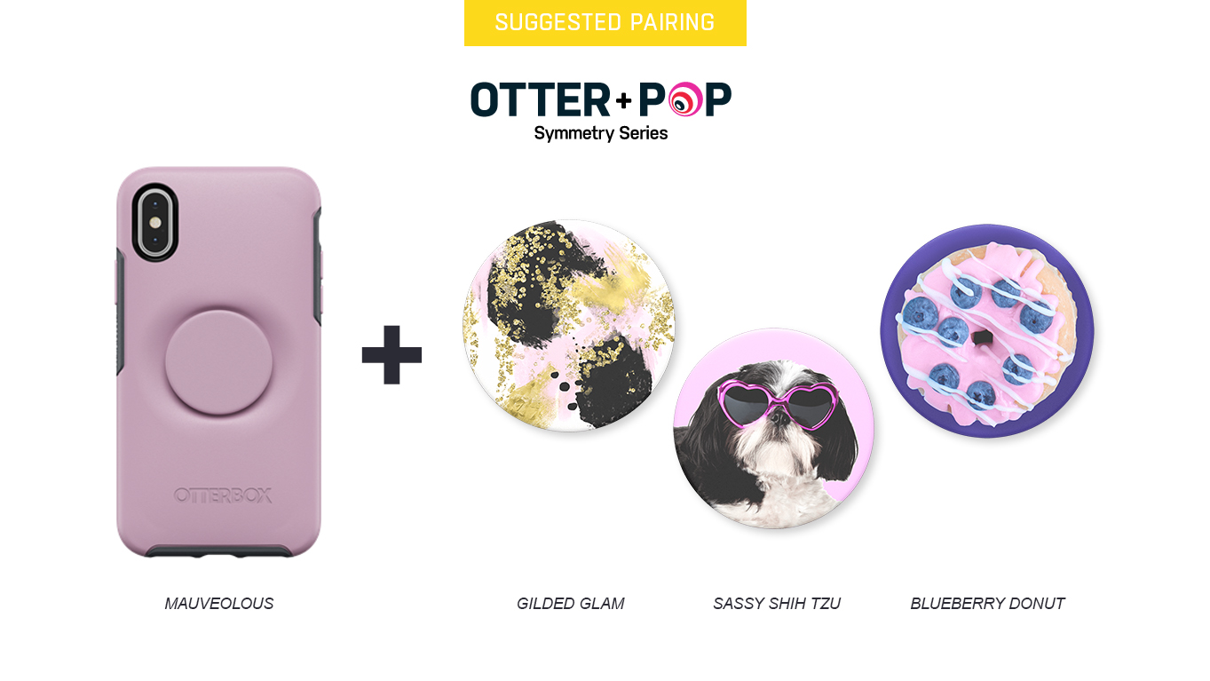 PopTops to pair with Otter + Pop Symmetry Mauvelous Case