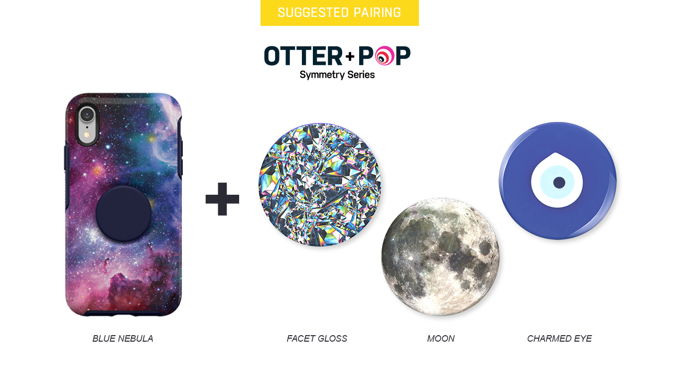 PopTops to pair with Otter + Pop Symmetry Blue Nebula Case